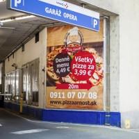 Banner pizzeria Bratislava
